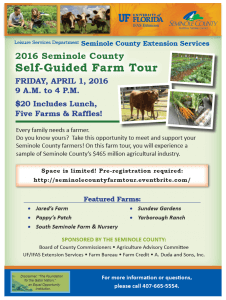 2016 Seminole Co. Self-Guided Farm Tour