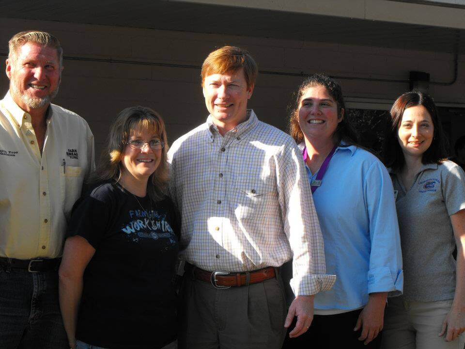 Pictured from left: Keith Free, Susan Holley, Adam Putnam, Molly Huffman, Jennifer Bearden